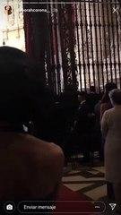 Niña Pastori cantando en la boda de Sergio Ramos y Pilar Rubio