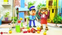 Funny Play Doh Stop Motion Superhero Baby Police Stops The