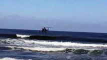 Intervention (simulation) de l'hélicoptère de la gendarmerie de Bayonne à Anglet le 13 juin 2019