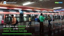 What happens to the things you lose on the Delhi Metro?
