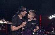 Metallica invites 13 year old drummer to perform 'Seek & Destroy' as a birthday present
