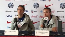 USA's Carli Lloyd felt sorry for goalkeeper after 13-0 win against Thailand