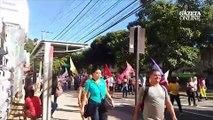 Manifestação próximo ao IFES na avenida Vitória