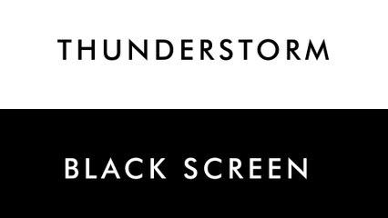 Thunderstorm at Night   10 HOURS - Rain, Thunder & Owls for SPA, Sleep, Study, Yoga, Meditation - Dark Screen - 4K