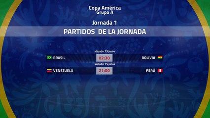 Previa de la Jornada 1 Copa América Grupo 1