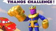 Hot Wheels Marvel Avengers 4 Endgame Thanos Challenge with Disney Pixar Cars 3 Lightning McQueen & DC Comics Superheroes Family Friendly Full Episode