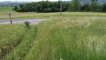 Un drone Enedis survole les lignes électriques de Saint-Michel-sur-Meurthe