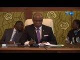 RTG/Séance plenière présidé par Faustin Boukoubi au siège de l'Assemblée Nationale.