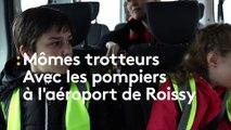 """A la rencontre des pompiers de l'aéroport Charles-de-Gaulle avec les """"mômes trotteurs"""" de franceinfo"""