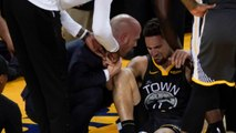 Klay Thompson Gets Knee Injury During Foul But Stays On Court To Make Freethrows