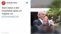 Alain Delon hospitalisé pour des maux de tête
