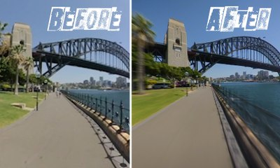 A side-by-side comparison of the Bondi-to-Manly hyperlapse – video