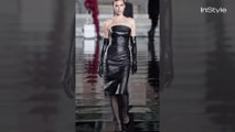 Irina Shayk Just Hit the Runway in the Sexiest Leather LBD