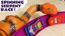 Hot Wheels Spinning Serpent Race with Disney Frozen & Pixar Cars 3 Lightning McQueen with Marvel Avengers 4 Endgame & DC Comics Superheroes Full Episode