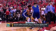 Raptors fans cheer after Kevin Durant goes down - 2019 NBA Finals - Golic and Wingo