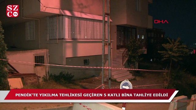 İstanbul'da bir bina daha tahliye edildi