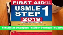 Full E-book  First Aid for the USMLE Step 1 2019, Twenty-Ninth Edition  Best Sellers Rank : #5