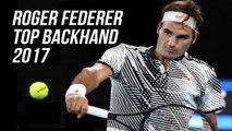 Roger Federer   Top Backhand 2017 HD ( AO, Indian Well, Miami , Wimbledon, Roger Cup)