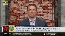 Tim Legler reacts to Kawhi win title, Finals MVP in 1st season with Raptors - GET UP