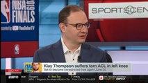 Adrian Wojnarowski REACTS TO Kawhi named NBA Finals MVP - Klay Thompson injury