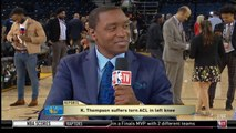 Isiah Thomas - Grant Hill REACTS TO Klay Thompson suffers torn ACL in left knee