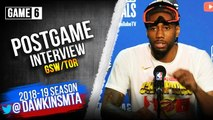 Kawhi Leonard Postgame Interview - Game 6 - Raptors vs Warriors - 2019 NBA Finals