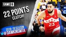 Fred Vanvleet Full Highlights 2019 Finals Game 6 Raptors vs Warriors - 22 Pts, CLUTCH- FreeDawkins