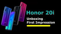 Honor 20i quick unboxing and first impressions