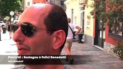 """Patriotti : """"Sustegnu à Felici Benedetti"""""""