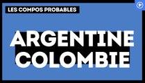 Argentine - Colombie : les compositions probables