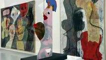 Visite de l'exposition  consacrée à l'artiste portugais José de Guimarães au musée Würth à Erstein