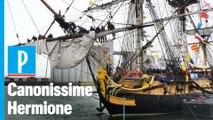 A bord de l'Hermione, le bateau star de l'Armada de Rouen