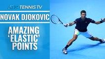 Amazing Novak Djokovic 'Elastic' Points