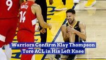 Klay Thompson Got Hurt In The NBA Finals
