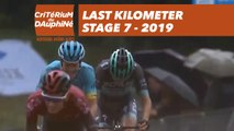 Last Kilometer / Dernier kilomètre - Étape 7 / Stage 7 - Critérium du Dauphiné 2019
