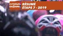 Résumé - Étape 7 - Critérium du Dauphiné 2019
