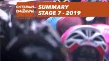 Summary - Stage 7 - Critérium du Dauphiné 2019