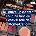 Une séance de maquillage au Festival TV de Monte-Carlo