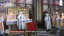 La première messe  à Notre Dame de Paris après l'incendie
