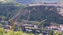 Besançon : traversée réussie sur la high line au fort de Bregille