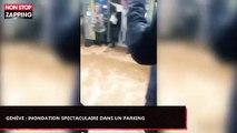 Genève : Inondation spectaculaire dans un parking pendant un orage (Vidéo)