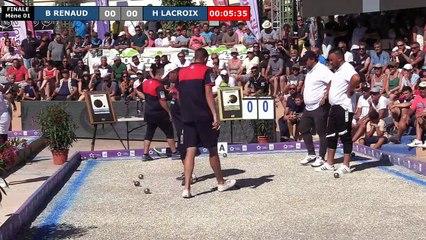 Mondial à pétanque Montpellier 3M Midi Libre 2019 : Finale H LACROIX vs B RENAUD