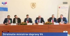 Stretnutie ministrov dopravy V4 o VRT (železničná časť, SK, 19')