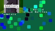 About For Books  Roland Barthes by Roland Barthes Complete