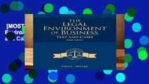 [MOST WISHED]  The Legal Environment of Business: Text and Cases