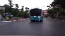 Sultanbeyli'de patenli gençlerin tehlikeli yolculuğu kamerada
