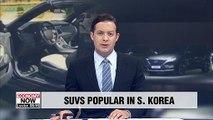 SUVs take up almost half of South Korean car market