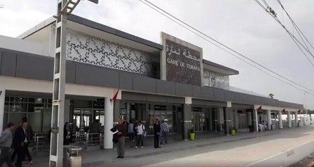 En direct: Visite de presse de la nouvelle gare de Témara