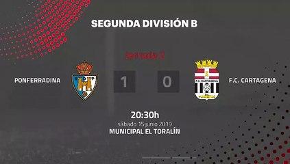 Resumen partido entre Ponferradina y F.C. Cartagena Jornada 2 Segunda B - Play Offs Ascenso