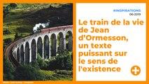 Le train de la vie de Jean d'Ormesson, un texte puissant sur le sens de l'existence. À méditer !